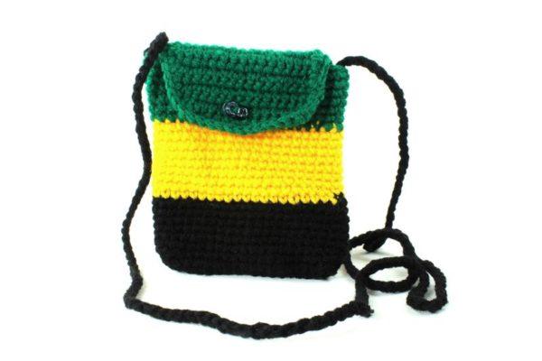 Micro Sacoche Verte Jaune Noir Couleurs Jamaïque