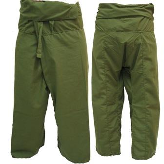 Pantalon Pêcheur Thaïlandais Kaki