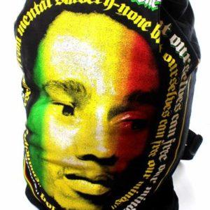 Sac à Dos Reggae Visage Bob Marley Vert Jaune Rouge Smart Zip