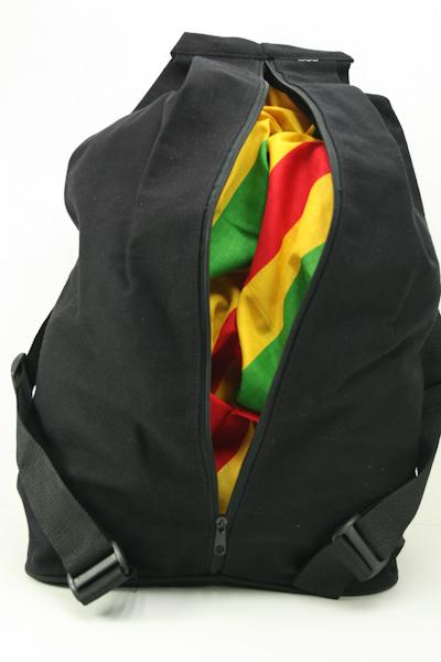 Sac à Dos Zip Sécurité Noir Image Bob Marley Songeur