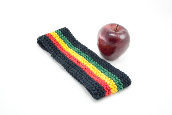 Bandeau Rasta Noir pour Dreadlocks Cheveux Longs Crochet en Laine Coton