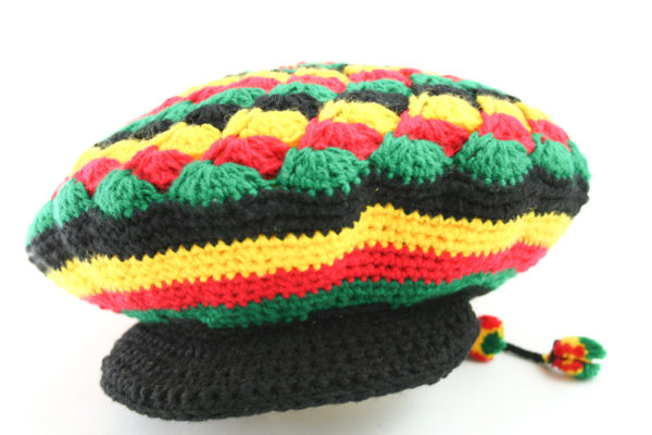 Chapeau Tam Rasta Visière Noire Style Mexicain