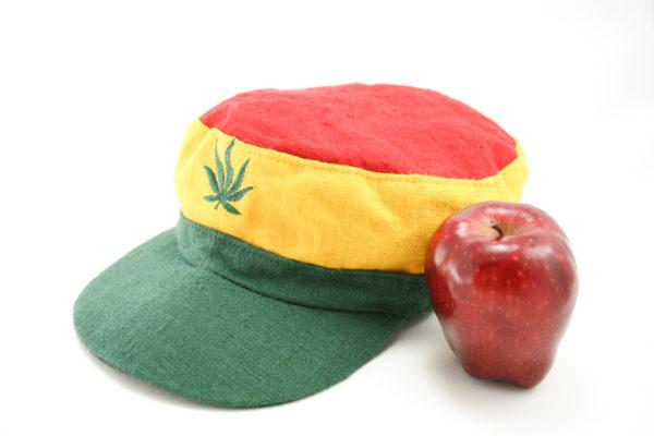 Casquette Chanvre Naturel Feuille Marijuana