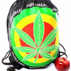 Sac à Dos Cannabis Sac Shopping Pliable et Léger avec Cordon de Fermeture