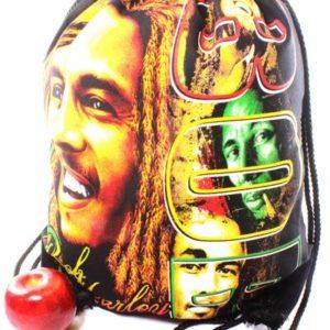 Sac à dos Sport Fermeture Corde  Imprimé Bob Marley Reggae Star