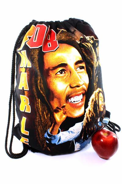 Sac Plage ou Piscine Porte Serviette et Rechange Bob Marley Heureux