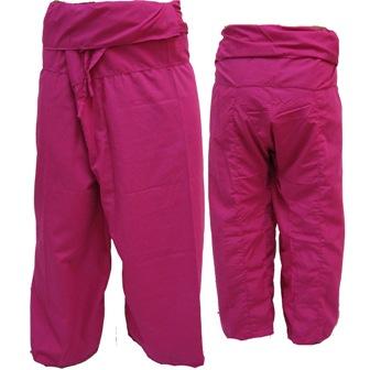 Pantalon Pêcheur Thaïlandais Rose Fuchsia