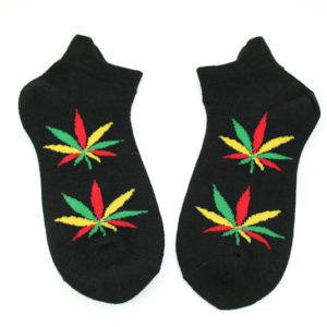Chaussettes Noires Marijuana Green Yellow Red Homme Femme