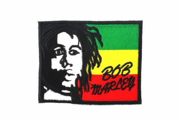Ecusson à Coller ou à Coudre Visage Bob Marley Drapeau Rasta
