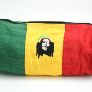 Sac Tube Vert Jaune Rouge Grand Format Broderie Rastaman Dreadlocks