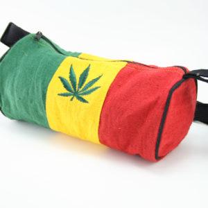 Petit Sac Tubulaire Chanvre Couleurs Rasta Feuille Cannabis