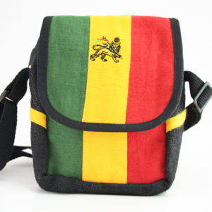 Sacoche Taille 16x23 cm Pure Chanvre Couleurs Rasta