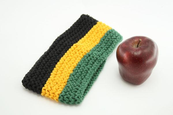 Bandeau Couleurs Jamaïque Vert Jaune Noir 8cm