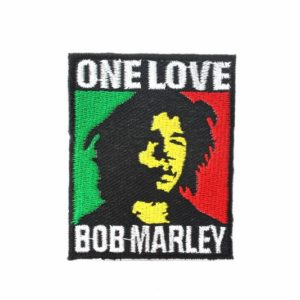 Écusson collant Bob Marley One Love Couleurs Rasta