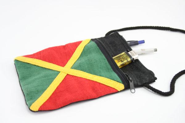 Pochette Chanvre Drapeau Jamaïcain et Couleurs Rasta