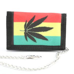 Portefeuille Chaîne Feuille Marijuana