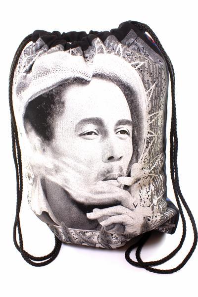 Sac à Dos Léger Fermeture Cordes Bob Marley Fume un Joint