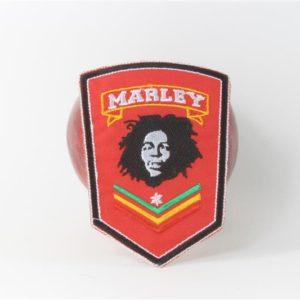 Écusson Rouge avec Tête de Bob Marley Type Militaire