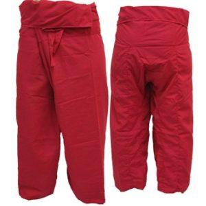 Pantalon Pêcheur Thaïlandais Rouge