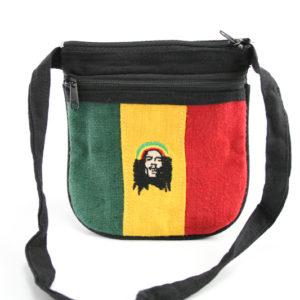 Petit Sac Zip Bob Marley Chanvre Naturel