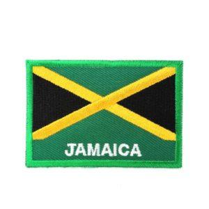 Écusson Thermocollant ou à Coudre Drapeau de la Jamaïque