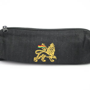 Trousse à stylo Zip Chanvre Noir Naturel Lion de Juda