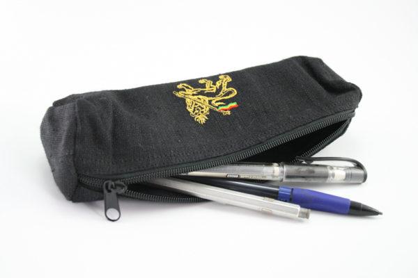 Trousse à stylo Zip Chanvre Noir Naturel Lion de Juda