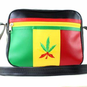 Sacoche Vinyle Rasta Anti Racaille Dealer de Cannabis Style Lacoste