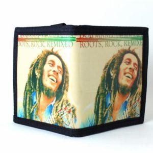 Portefeuille Rangements Multiples Fermeture Velcro Décoration Bob Marley Longues
