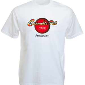 TEE-SHIRT HARD ROCK CAFE CANNABIS PUB BLANC
