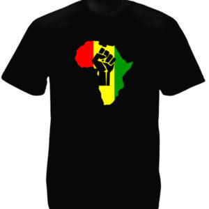 TEE-SHIRT BLACK POWER AFRIQUE NOIR