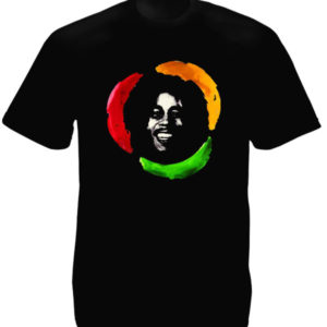 TEE-SHIRT PHOTO BOB MARLEY NOIR