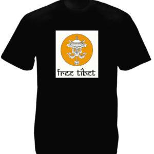 TEE-SHIRT FREE TIBET NOIR