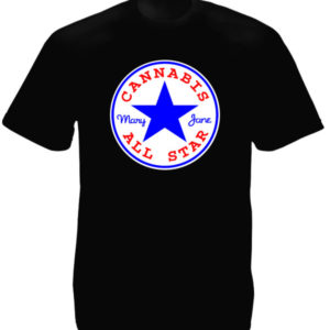 TEE-SHIRT CANNABIS ALL STAR NOIR