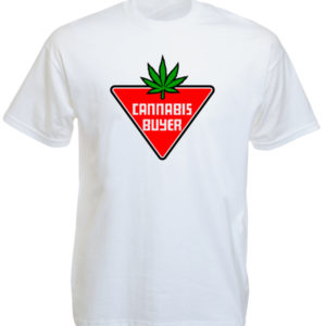 TEE-SHIRT FRAISE CANNABIS BUYER BLANC