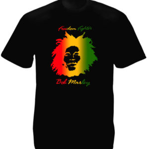 TEE-SHIRT REGGAE FREEDOM FIGHTER NOIR