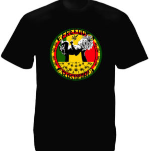 TEE-SHIRT FREEDOM RASTAFARI NOIR