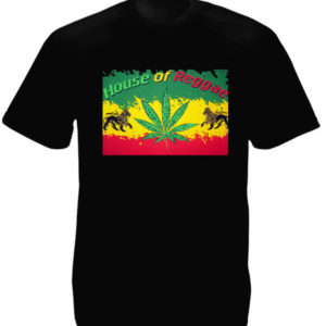 TEE-SHIRT HOUSE OF REGGAE COULEURS RASTA NOIR