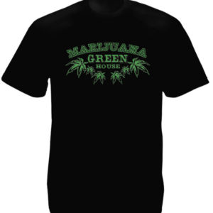 TEE-SHIRT MARIJUANA GREEN HOUSE NOIR