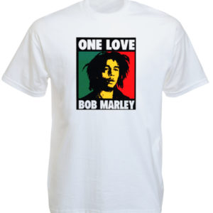 TEE-SHIRT ALBUM BOB MARLEY ONE LOVE BLANC