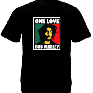 TEE-SHIRT ALBUM BOB MARLEY ONE LOVE NOIR