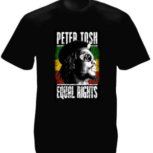 TEE-SHIRT PETER TOSH EQUAL RIGHTS NOIR