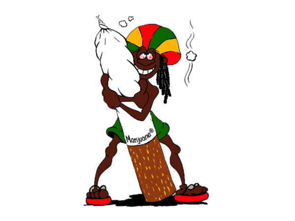 TEE-SHIRT RASTAMAN CARTOON BLANC