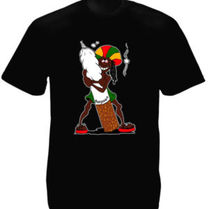 TEE-SHIRT RASTAMAN CARTOON NOIR