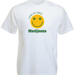 TEE-SHIRT SMILEY BLANC