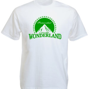 TEE-SHIRT CANNABIS WONDERLAND BLANC