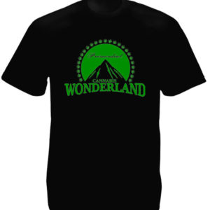 TEE-SHIRT CANNABIS WONDERLAND NOIR